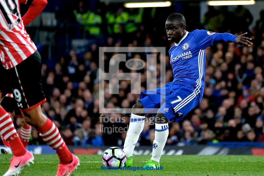 Ngolo Kant&eacute; of Chelsea during the Premier League match at Stamford Bridge, London<br /> Picture by Kristian Kane/Focus Images Ltd +44 7814 482222<br /> 25/04/2017