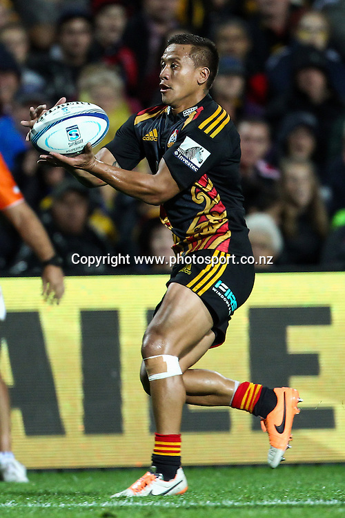 Chiefs' Tim Nanai-Williams in action during the Super 15 Rugby match - Chiefs v Crusaders at Waikato Stadium, Hamilton, New Zealand on Saturday 19 April 2014.  Photo:  Bruce Lim / www.photosport.co.nz