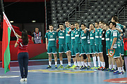 Team Belarus during anthems before the EHF 2018 Men's European Championship, 2nd Round, Handball match between Serbia and Belarus on January 24, 2018 at the Arena in Zagreb, Croatia - Photo Laurent Lairys / ProSportsImages / DPPI