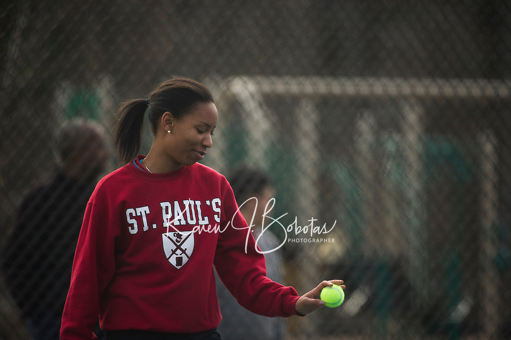 St Paul's School varsity girls Tennis.  ©2015 Karen Bobotas Photographer