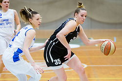 Tina Cvijanovic of ZKK Maribor and Rebeka Abramovic of ZKK Triglav Kranj during basketball match between ZKK Triglav Kranj and ZKD Maribor in Round #1 of 1. Slovenian Woman basketball league, on February 20, 2018 in ŠD Planina, Kranj, Slovenia. Photo by Ziga Zupan / Sportida