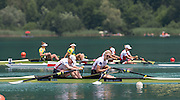 Aiguebelette, FRANCE.  GBR W2X. bow Frances HOUGHTON and Victoria THORNLEY. A  Finals at the  .  13:25:18  Sunday  22/06/2014. [Mandatory Credit; Peter Spurrier/Intersport-images]