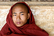 Portrait of a monk at Hti Tain Monastery.  The monastery lies along a trek between Kawla and Inle Lake in Myanmar.