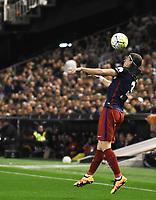 Atletico de Madrid´s Filipe Luis during 2015/16 La Liga match between Valencia and Atletico de Madrid at Mestalla stadium in Madrid, Spain. March 6, 2016. (ALTERPHOTOS/Javier Comos)