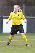 Dawn Mallett during the Women's FA Cup match between Watford Ladies FC and Brighton Ladies at the Broadwater Stadium, Berkhampstead, United Kingdom on 1 February 2015. Photo by Stuart Butcher.