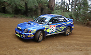 Dean Herridge & Glenn MacNeall .Subaru Impeza WRX.Motorsport-Rally.2003 NGK Rally of Melbourne.Yarra Valley, Victoria .5th of October 2003 .(C) Joel Strickland Photographics