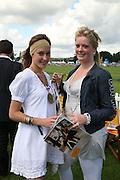Lady Tatiana Mountbatten and Hannah Clarke, The Veuve Clicquot Gold Cup 2007. Cowdray Park, Midhurst. 22 July 2007.  -DO NOT ARCHIVE-© Copyright Photograph by Dafydd Jones. 248 Clapham Rd. London SW9 0PZ. Tel 0207 820 0771. www.dafjones.com.
