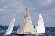 6 Meter Class sailing in the Robert H. Tiedemann Classic Yachting Weekend race 1.