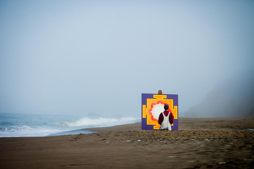 Ekabhumi Ellik at Baker Beach, San Francisco