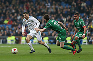 MADRID, SPAIN. January 24, 2018 - Mateo Kovacic with the ball against Javier Eraso. Real Madrid pushed right to the end but were ultimately unable to get the better of Leganés, who scored twice, once in either half, to knock the Whites out of the Copa del Rey. . Photos by Antonio Pozo | PHOTO MEDIA EXPRESS