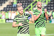 Forest Green Rovers Joseph Mills(23) acknowledges the fans at the end of the match during the EFL Sky Bet League 2 match between Forest Green Rovers and Colchester United at the New Lawn, Forest Green, United Kingdom on 14 September 2019.