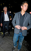 25.JANUARY.2012. LONDON<br /> <br /> GARY LINEKER WITH HIS SON GEORGE LINEKER AT THE NOBU RESTAURANT IN LONDON<br /> <br /> BYLINE: EDBIMAGEARCHIVE.COM<br /> <br /> *THIS IMAGE IS STRICTLY FOR UK NEWSPAPERS AND MAGAZINES ONLY*<br /> *FOR WORLD WIDE SALES AND WEB USE PLEASE CONTACT EDBIMAGEARCHIVE - 0208 954 5968*