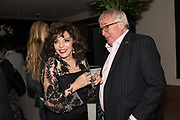 JOAN COLLINS; CHRISTOPHER BIGGINS, Bonhams host a private view for their  forthcoming auction: Jackie Collins- A Life in Chapters' Bonhams, New Bond St.  3 May 2017.