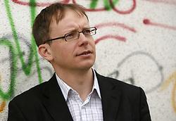 Portrait of Marjan Pogacnik, Slovenian journalist and translator. (Photo by Vid Ponikvar / Sportal Images).