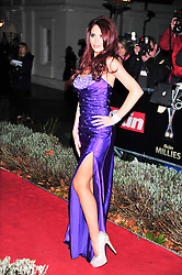© Licensed to London News Pictures. 19/12/2011. London, England. Amy Childs attends a Night Of Heros , the Sun Military Awards 2011 held on Monday 19th Dec at the Imperial War Museum London . the awards will be televised on Wed 21st December 2011 .  Photo credit : ALAN ROXBOROUGH/LNP