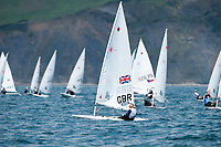 Charlotte Dobson (GBR), Laser Radial, women's one person dinghy, Sailing Olympic Test Event, Weymouth, England