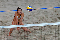 06-01-2019 NED: Dela Beach Open, Den Haag<br /> Brazil Ana Patricia Silva Ramos #1 BRA/ Rebecca Cavalcanti Barbosa Silva #2 BRA win the bronze medal /  Sarah Sponcil #2 USA