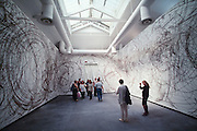VENICE, ITALY..June 1999..48th Biennale of Venice.Italian Pavillion..Room painted by Austrian artist Otto Zitko..(Photo by Heimo Aga)
