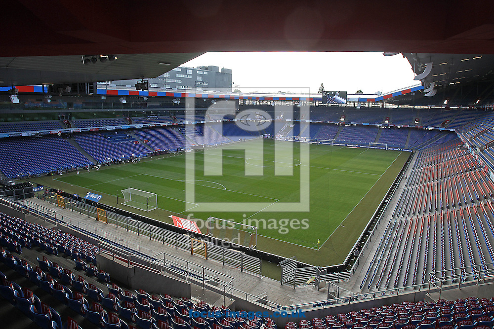 General views of the St. Jakob-Park Stadium before the UEFA Euro 2016 Qualifying match at St. Jakob-Park, Basel, Switzerland<br /> Picture by Paul Chesterton/Focus Images Ltd +44 7904 640267<br /> 08/09/2014