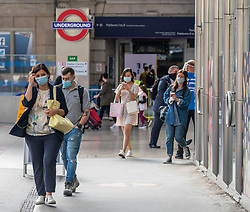 © Licensed to London News Pictures. 17/07/2020. London, UK. Commuters arrive at Victoria Station, Westminster as they head back to their offices in central London. Prime Minister Boris Johnson is expected to called for Britons to return to working in offices to help local service industries and the economic recovery. Photo credit: Alex Lentati/LNP