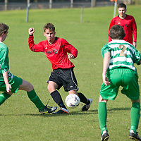 Scone Thistle U19's football team wearing their new strips provided by Scotrail's parent company the First Group....23.09.12<br /> Picture by Graeme Hart.<br /> Copyright Perthshire Picture Agency<br /> Tel: 01738 623350  Mobile: 07990 594431
