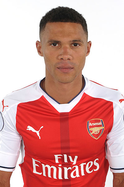 ST ALBANS, ENGLAND - AUGUST 03: (EXCLUSIVE COVERAGE)  Kieran Gibbs of Arsenal at the 1st team photocall at London Colney on August 3, 2016 in St Albans, England.  (Photo by Stuart MacFarlane/Arsenal FC via Getty Images)