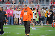 Cleveland Browns head coach Freddie Kitchens takes the field before an NFL football game against the San Francisco 49ers, Monday, Oct. 7, 2019, in Santa Clara, Calif. The 49ers defeated the Browns (Peter Klein/Image of Sport)