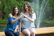 High school senior portrait of Alexandra Randazzo and Callie Matthews in Abita Springs; photo ©2018, George H. Long