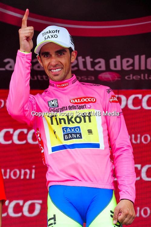 Alberto Contador - Tinkoff Saxo - 30.05.2015 - Tour d'Italie - Etape 20 : Saint Vincent / Sestriere<br />Photo : Sirotti / Icon Sport