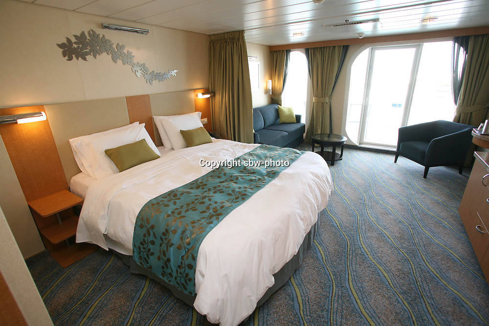 The launch of Royal Caribbean International's Oasis of the Seas, the worlds largest cruise ship..Staterooms.Junior Suite with balcony