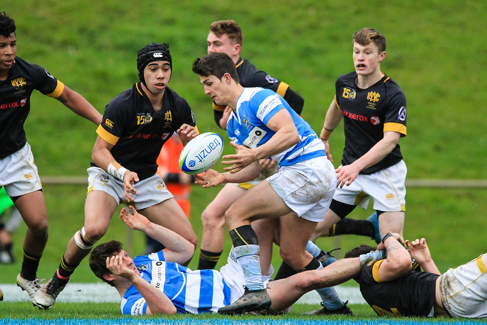 Rugby union game played between Wellington College st XV  v St Patrick's Silverstream XV , at  Jerry Collins Park,Porirua,Wellington, New Zealand, on 20 August 2017.   Game won 17-11 by St Patrick's Silverstream.