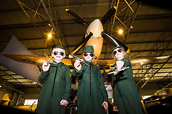 Pictured: Arabella (7), Hannah (7) and Ritchie (6) under the wings of a SpitfireThe redeveloped National Museum of Flight at East Fortune has undergone a  £3.6 million refurbishment and now has aeroplanes including a Spitfire, a Harrier Jump Jet and a Tornado T-3 on display.    (c) Ger Harley, EEm 22 March 2016