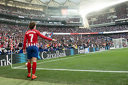 February 24, 2019 - Madrid, Spain - Antoine Griezmann of Atletico de Madrid during La Liga match between Atletico de Madrid and Villarreal CF at Wanda Metropolitano in Madrid, Spain. February 25, 2019. (Credit Image: © Peter Sabok/NurPhoto via ZUMA Press)