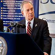 NYC Mayor Michael Bloomberg speaks at Selfhelp Community Services, Inc. social services center in Flushing, NY