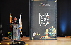 April 28, 2019 - Nablus, West Bank, Palestinian Territory - Palestinian Prime Minister Mohammad Ishtayeh attends a ceremony marking the 150 years to establishment of the municipality of Nablus, at a-Najah University, in the West Bank city of Nablus, April 27, 2019  (Credit Image: © Prime Minister Office/APA Images via ZUMA Wire)