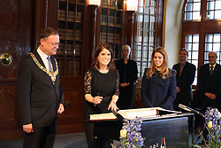 Princess Beatrice signs the Golden Book at Hanover City Hall, Hanover, Germany, January 18, 2013. Photo by Imago / i-Images...UK ONLY