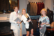 FINN BRUCE; EMMA CORBETT; ZOE BLACKBURN, The Gentleman's Journal Autumn Party, in partnership with Gieves and Hawkes- No. 1 Savile Row London. 3 October 2013