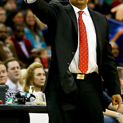 Nov 26, 2013; New Orleans, LA, USA; Golden State Warriors head coach Mark Jackson against the New Orleans Pelicans during the second quarter of a game at New Orleans Arena. Mandatory Credit: Derick E. Hingle-USA TODAY Sports