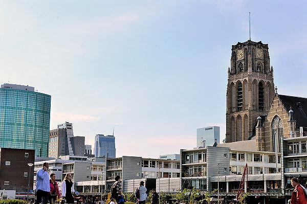 Nederland, The Netherlands, Rotterdam, 20-9-2015Stadsbeeld van de stad. LaurenskerkFOTO: FLIP FRANSSEN/ HH