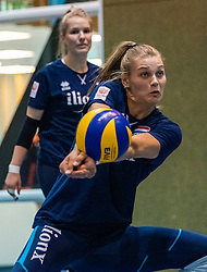 14-05-2019 NED: Training national volleyball team Women, Arnhem<br /> Dutch volleyball team women starts the training yesterday. There is a tough program ahead this summer. They starts with group matches of the VNL, then OKT in Catania in Italy, Worldcup in Japan and the European Championship played in Hungary / Nika Daalderop #19 of Netherlands