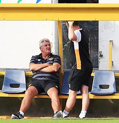 Hull City manager Steve Bruce talks with staff - Mandatory by-line: Matt McNulty/JMP - 19/07/2016 - FOOTBALL - One Call Stadium - Mansfield, England - Mansfield Town v Hull City - Pre-season friendly