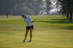 August 23, 2018 - Regina, SK, U.S. - REGINA, SK - AUGUST 23: Cindy LaCrosse (USA) hits her approach shot on 17 during the CP Women's Open Round 1 at Wascana Country Club on August 23, 2018 in Regina, SK, Canada. (Photo by Ken Murray/Icon Sportswire) (Credit Image: © Ken Murray/Icon SMI via ZUMA Press)
