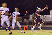 23 SEPTEMBER 2011 - SCOTTSDALE, AZ: Cody Erickson (CQ) runs in for the first touchdown of the game, 1st qtr, at Desert Mountain High School in Scottsdale. Desert Mountain played Notre Dame in Desert Mountain's homecoming high school football game.     PHOTO BY JACK KURTZ