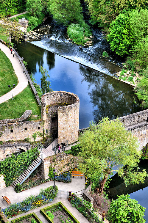 Bock Ruins and Alzette River Falls in Luxembourg City, Luxembourg <br /> Since the Roman times, the city of Luxembourg has a very long history of building forts and being conquered.  The most significant period of fortification growth occurred under French King Louis XIV.  He commissioned Sebastien Le Prestre de Vauban to manage 3,000 workers to build 160 fortresses in the city from 1685 through 1688, thus earning it the nickname the &ldquo;Gibraltar of the North.&rdquo; Much of the defenses blew up in a 1554 gunpowder explosion. The citadel was further dismantled after Luxembourg became an independent state in 1867.  However, some of the ruins can still be explored.