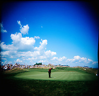 Tiger Woods puts at round 4 of the PGA championship at Whistling Straits Sunday Aug. 15, 2004 Haven Wi.     Photo Darren Hauck.................................................................................