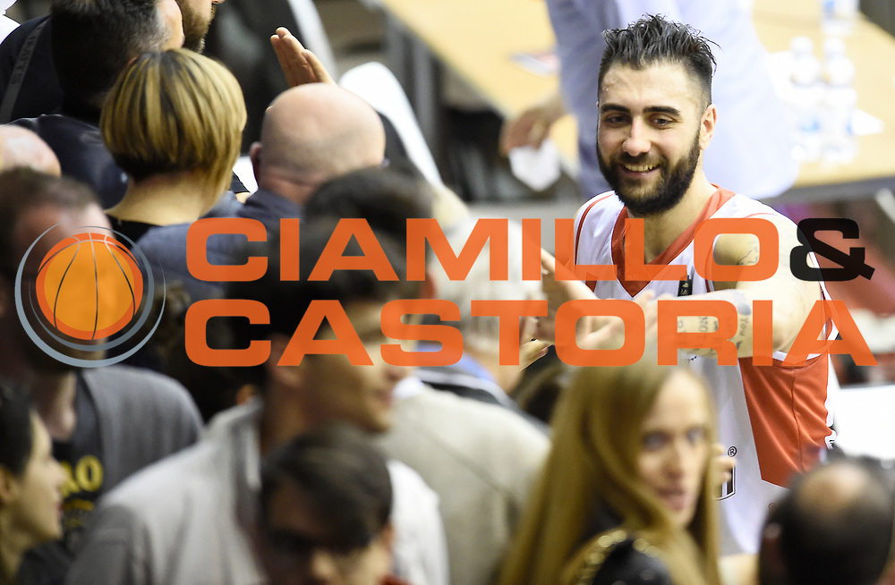 Pietro Aradori<br /> Grissin Bon Pallacanestro Reggio Emilia - The Flexx Pistoia Basket<br /> Lega Basket Serie A 2016/2017<br /> Reggio Emilia, 30/04/2017<br /> Foto A.Giberti / Ciamillo - Castoria