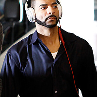 29 January 2012: Chicago Bulls Carlos Boozer arrives at the arena prior to the Miami Heat game against the Chicago Bulls at the AmericanAirlines Arena, Miami, Florida, USA.