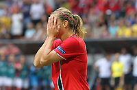 Fotball , EM , Norge - Tyskland 28.juli 2013 , kvinner ,  Sverige , Stockholm , Solna , europamesterskap, finale<br /> Trine Rønning<br /> Foto: Ole Marius Fjalsett
