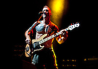 Tim Commerford of Rage Against the Machine performs the L.A. Rising Festival at L.A. Coliseum July 30, 2011