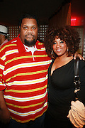 l to r: Fat man Scoop and wife, Shanda  at the Celebration for the Finale episode of the VH1 hit reality show ' Let's talk about Pep held at the Comix Club on March 1, 2010 in New York City.